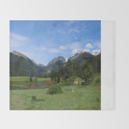 A Meadow In Rocky Mountain NP Throw Blanket
