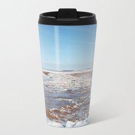 Snow on the Bay of Fundy Metal Travel Mug
