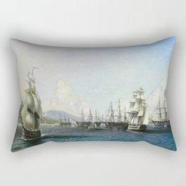 Battle of ships Rectangular Pillow