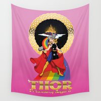 thor Wall Tapestries featuring Princess Thor by Spicy Monocle