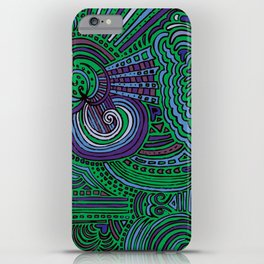 Drawing Meditation - Green iPhone Case