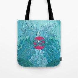 Symmetry in Cyan Tote Bag