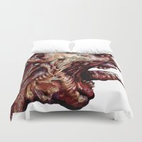 pain Duvet Covers featuring Pain by Roland Prinsler