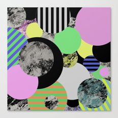 Cluttered Circles - Abstract, Geometric, Pop Art Style Canvas Print