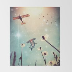 Flying Lessons Throw Blanket