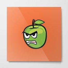 angry apple Metal Print