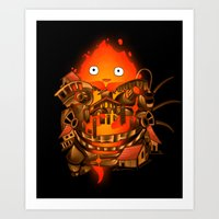 pocket Art Prints featuring Pocket Calcifer by Natalie