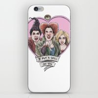 hocus pocus iPhone & iPod Skins featuring It's all a bunch of Hocus Pocus by Tiffany Willis