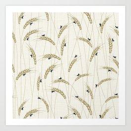 Crickets in a field Art Print