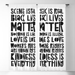 Science is real - BLM - Love is love Blackout Curtain