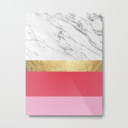 Geometric collage XXVI Metal Print