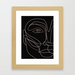 Face in lines Framed Art Print