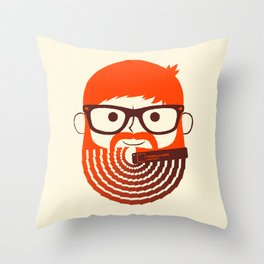 The Gradient Beard Throw Pillow