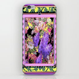 Western Style Lilac's & Roses Garden Design iPhone Skin