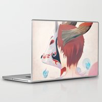 kitsune Laptop & iPad Skins featuring KITSUNE GIRL by Vcortez