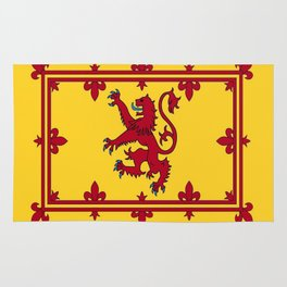 RED LION & YELLOW ROYAL BANNER OF SCOTLAND Rug
