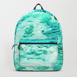 Ocean Vintage Retro Blue Green Backpack