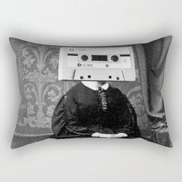 Faces of the Past: Audio Cassette Rectangular Pillow