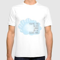 You're the Silver Lining on My Cloud Nine MEDIUM White Mens Fitted Tee