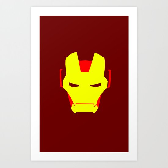 Minimalist Iron Man Art Print