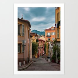 Old Town Nice on a Cloudy Day Art Print