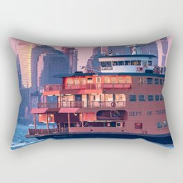 NYC Staten Island Ferry Rectangular Pillow