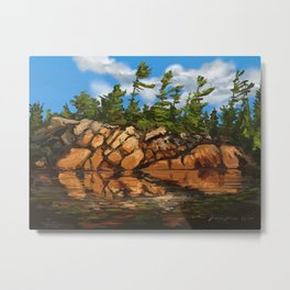 Rocky Pines Metal Print