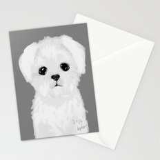 bw maltese Stationery Cards
