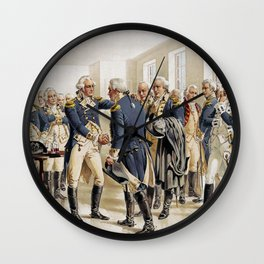 Washington's Farewell to Officers by H.A. Ogden (1893) Wall Clock