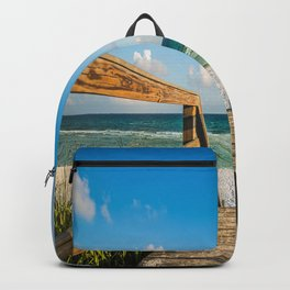 Head to the Beach - Boardwalk Leads to Summer Fun in Florida Backpack