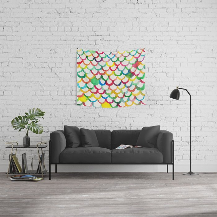 COLOR SCALES Wall Tapestry