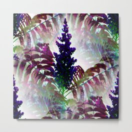 Colorful Seamless Fractal Leaves Metal Print