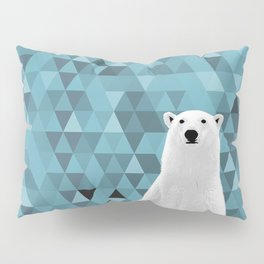 Polar Bear (in a hole in the ice) Pillow Sham