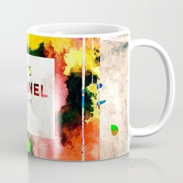 No 5 Grunge Coffee Mug