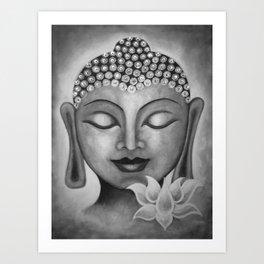 Buddha & Lotus 10 Art Print