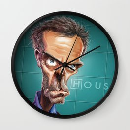 Caricature Dr House Wall Clock