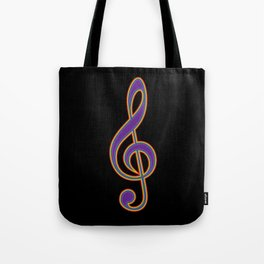Rainbow G Clef Treble Clef Music Lover Musician Tote Bag