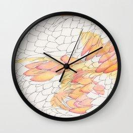Protea Petals Wall Clock