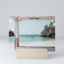 Blue Lagoon Beach Dream #2 #wall #decor #art #society6 Mini Art Print