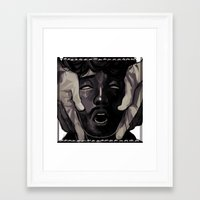 will graham Framed Art Prints featuring Graham by Frank Odlaws