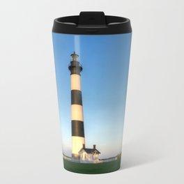 Outer Banks, NC, Bodie Island Lighthouse, Summer Sunset 2015 - OBX  Travel Mug