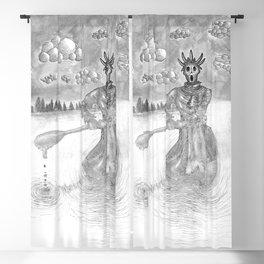 Draugen Draugr Norse Mythological Creature Blackout Curtain