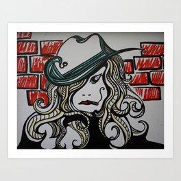 Sassy Woman w/ Cig Art Print