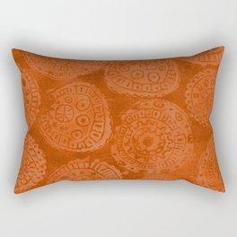 Tribal Terracota Rounds Rectangular Pillow