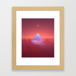 Blue Pyramid Framed Art Print