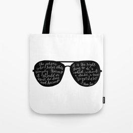 Stan Lee Quote, Superhero Tote Bag