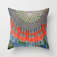 china Throw Pillows featuring China by Hgnovic