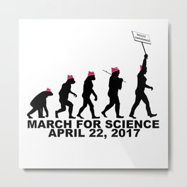 March For Science (Woman) Metal Print