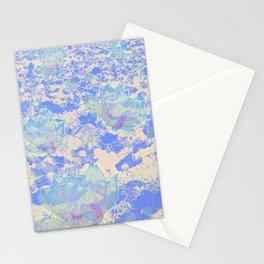Flower Blue  Stationery Cards