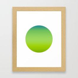 Suolo Round Framed Art Print